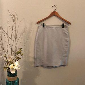 BCBG Maxazria Silver Blue Pencil Skirt